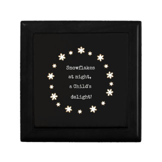 Snowflakes at night rhyme. jewelry boxes