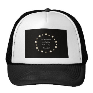 Snowflakes at night rhyme. trucker hat