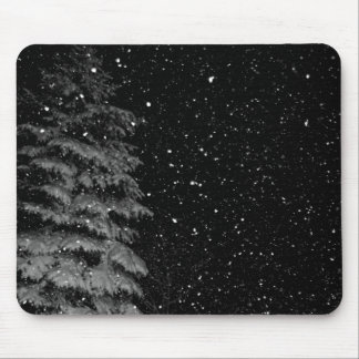 snowflakes at night  unique photograph mouse pad