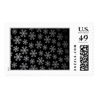 'Snowflakes At Nightfall' Postage Stamp