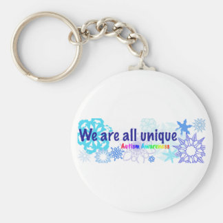 snowflakes_autism keychain