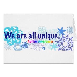 snowflakes_autism tarjeta de felicitación