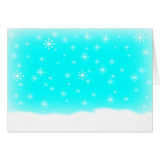 SNOWFLAKES BABYBLUE CARD