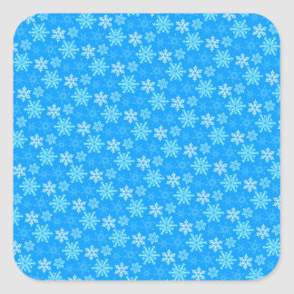 Snowflakes Background Square Stickers
