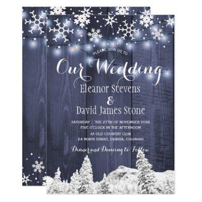 Barn wood snowflakes rustic winter wedding card zazzle com