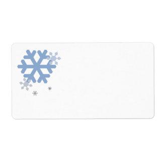 Snowflakes Big Label - White