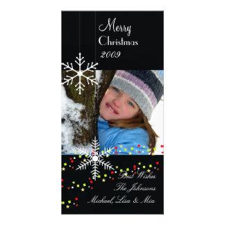 Snowflakes ~ black and white christmas card