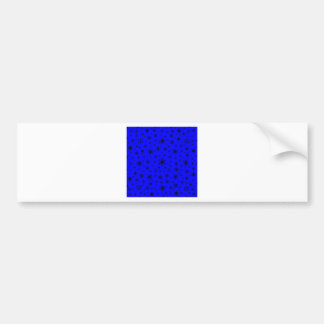 Snowflakes – Black on Blue Bumper Stickers