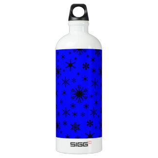 Snowflakes – Black on Blue SIGG Traveler 1.0L Water Bottle