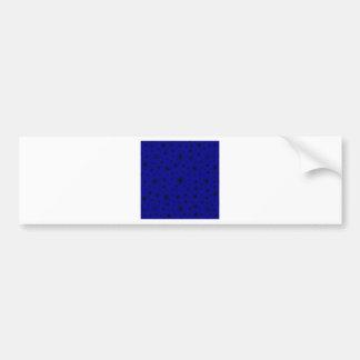 Snowflakes – Black on Dark Blue Bumper Sticker