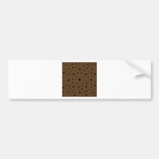 Snowflakes – Black on Dark Brown Bumper Stickers