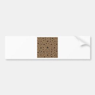 Snowflakes – Black on Pale Brown Bumper Sticker