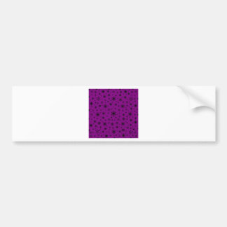 Snowflakes – Black on Purple Bumper Sticker