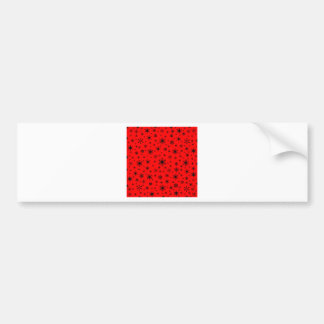Snowflakes – Black on Red Bumper Stickers