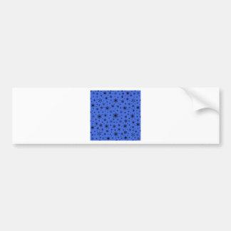 Snowflakes – Black on Royal Blue Bumper Stickers