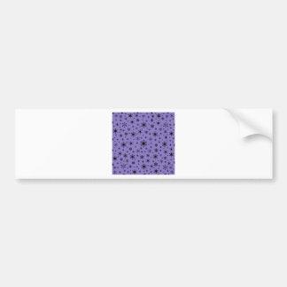 Snowflakes – Black on Ube Bumper Sticker