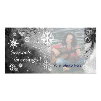 SNOWFLAKES ,black ,white,grey Card