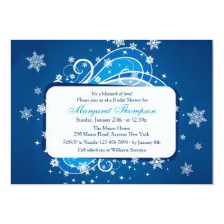 Snowflakes Blue Bridal Shower Invitation