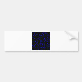 Snowflakes – Blue on Black Bumper Stickers