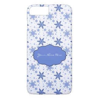 Snowflakes Blue on White iPhone 7 Plus Case