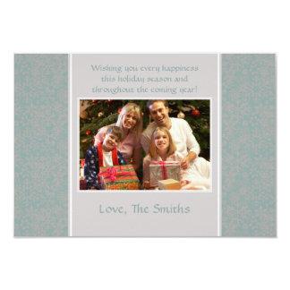 Snowflakes - Blue & Silver 3.5x5 Paper Invitation Card