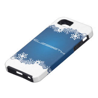 Snowflakes blue white winter iPhone iPhone SE/5/5s Case