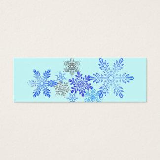 Snowflakes Bookmark Mini Business Card