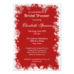 Snowflakes Bridal Shower Invitation