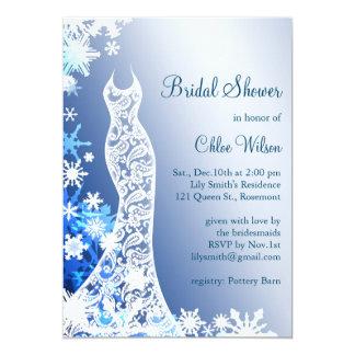 Snowflakes Bridal Shower Invitation 2
