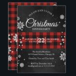 """Snowflakes & Buffalo Plaid Christmas Party Invite<br><div class=""""desc"""">Red buffalo plaid and snowflakes,  can't get any cozier than that! Personalize with your party information.</div>"""