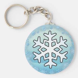 SNOWFLAKES  by SHARON SHARPE Keychain