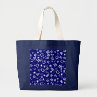 SNOWFLAKES  by SHARON SHARPE Large Tote Bag