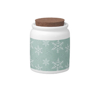 Snowflakes Candy Jars