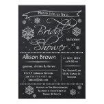 snowflakes Chalkboard Bridal shower Invitations