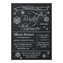 snowflakes Chalkboard Bridal shower Invitations