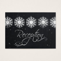 snowflakes chalkboard winter  Reception Cards