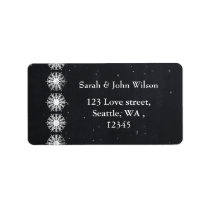 snowflakes chalkboard winter  return address label