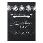chalkboard winter wedding invites by mgdezigns