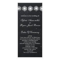 snowflakes chalkboard winter  Wedding program