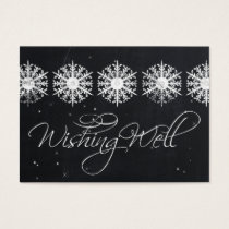snowflakes chalkboard winter  wishing well cards