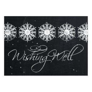 snowflakes chalkboard winter  wishing well cards large business card
