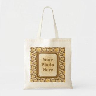 Snowflakes - Chocolate Marshmallow Tote Bags