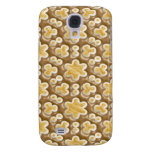 Snowflakes - Chocolate Marshmallow Samsung Galaxy S4 Covers