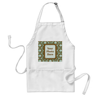 Snowflakes - Chocolate Mint Adult Apron