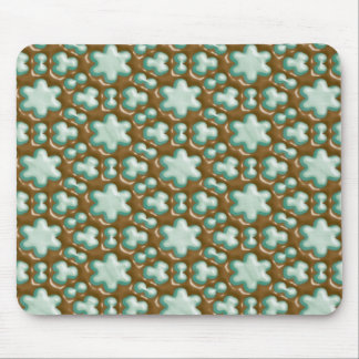 Snowflakes - Chocolate Mint Mouse Pad