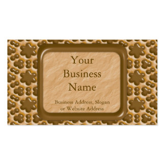 Snowflakes - Chocolate Peanut Butter Double-Sided Standard Business Cards (Pack Of 100)