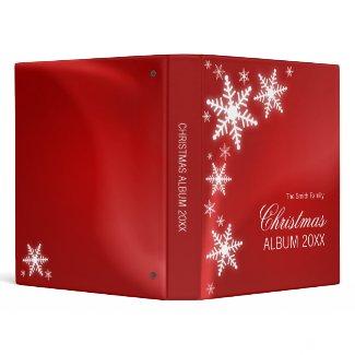 Snowflakes Christmas binder binder