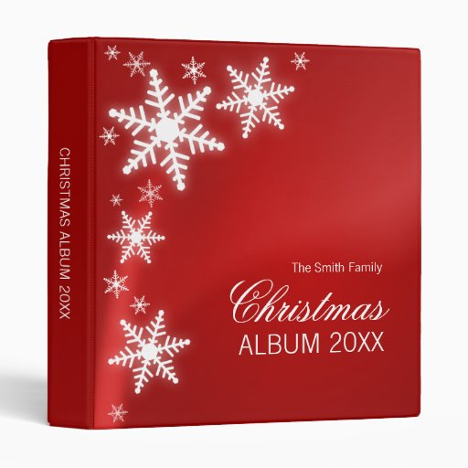 Snowflakes Christmas binder