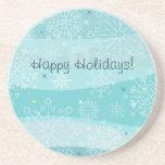 Snowflakes Christmas Coaster
