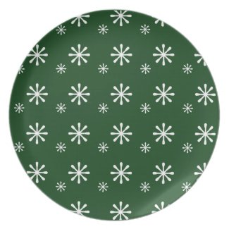 Snowflakes Christmas Dish Dinner Plates